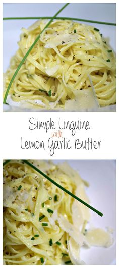 Simple Linguine with Lemon Garlic Butter