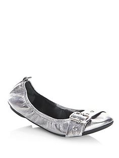 Marc Jacobs Dolly Leather Ballet Flats