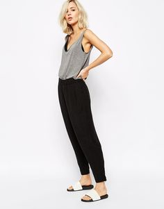 Image 1 ofJust Female Dacey Loose Fit Pant