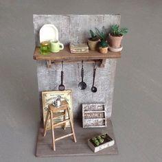 cercle à broder avec fil miniature maison de poupée,vitrine,couture *P3