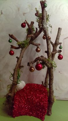 Hey, I found this really awesome Etsy listing at https://www.etsy.com/listing/477683146/the-jingle-bells-miniature-faerie-bed