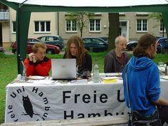 Die Freie Uni Hamburg demonstrierte ein freies WLAN-Netz (Parkfest im Suttnerpark)