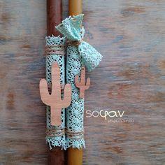 Μόνιμα πια στη συλλογή μου έχω κάθε χρόνο κι ένα (τουλάχιστον) σχέδιο πασχαλινές λαμπάδες που τις προτείνω για ζευγάρια! Είχα ετοιμάσει ... Easter Ideas, Easter Crafts, Cactus, Candles, Blog, Handmade, Diy, Decor, Soaps