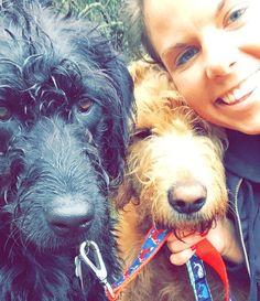 Pooch Pal selfie with walker Megan #labradoodles #dogs #dogwalker