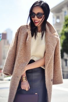 A great play on textures featuring wool and leather! http://www.facebook.com/WeLoveWool
