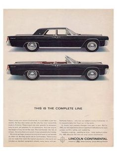 Premium Giclee Print: Lincoln 1963 - Complete Line : 48x36in