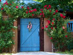 blue door. tularosa nm. Also known as The City of Roses