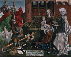 Hl. Christophorus; Hl. Anna Selbdritt; Stifter 1490; Wien; Österreich; Schatzkammer des Deutschen Ordens http://tarvos.imareal.oeaw.ac.at/server/images/7002621.JPG