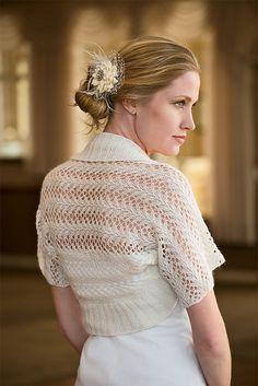 "Ravelry: Lacy Shrug pattern by Marlaina ""Marly"" Bird"