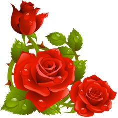 RED ROSES CLIP ART