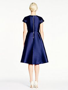 madison ave. collection alixi dress, rich navy by Kate Spade