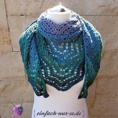 Dreieckstuch Saffron (Our Mrs. Reynolds) Shawl – einfach-nur-so. Crochet Shawls And Wraps, Crochet Scarves, Crochet Clothes, Crochet Triangle, Knit Crochet, Easy Yarn Crafts, Prayer Shawl, Crochet Fashion, Crochet Patterns