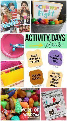 Activity days ideas! - A girl and a glue gun