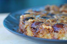 Fresh Fig, Walnut, and Rosemary Upside-Down Cake