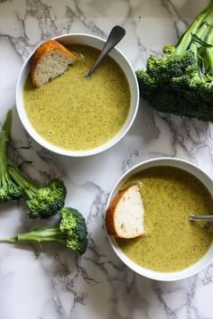Instant Pot Broccoli Cheddar Soup Recipe - It's so easy & best! Just broccoli, a couple carrots and an onion cooked then blended up with cheese and cream.