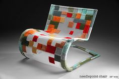 needlepoint chair...sweet!  wonder if someone could actually sit in it;0