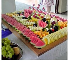 Fruit Buffet food fruit grapes watermelon healthy food images food pictures buffet mangos party foods party favors party ideas Rockwell Catering and Events Party Platters, Party Trays, Food Platters, Cheese Platters, Cheese Table, Watermelon Healthy, Watermelon Baby, Fruit Buffet, Food Buffet