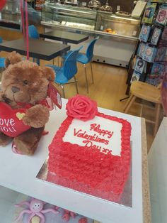 With Valentine's Day just around the corner, why not place an order for this beautiful rosette piped Valentine's cake. Order now £25 #valentinescakes #freshlymade #buttercreamtodiefor