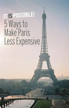 It's no secret that Paris is an expensive city to visit. But you can do it cheaper. Here's how.: https://www.yahoo.com/travel/its-possible-5-ways-to-make-paris-less-expensive-126618097102.html?soc_src=unv-sh&soc_trk=pi&nf=1