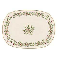 Lenox Holiday oblong tray x 2