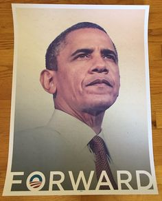 Barack Obama: Barack Obama Forward 18X24 Poster Official 2012 Reelection Campaign Rare -> BUY IT NOW ONLY: $99.99 on eBay!