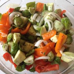 Beautiful Bowl of Fresh veggies ready to BBQ in a grill basket