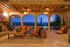 Tuscan Loggia - mediterranean - patio - santa barbara - Maraya Interior Design