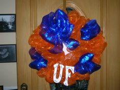 Mesh Wreath - University of Florida with Gators on the UF $40