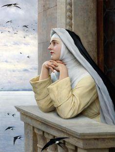 Eugene de Blaas, also known as Eugene von Blaas or Eugenio Blaas (1843-1932) — God's Creation, 1913