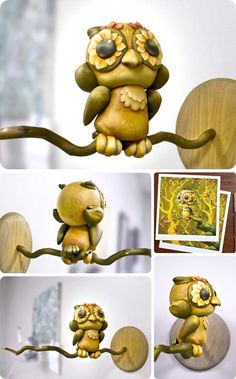 Custom Munny owl, Unknown Artist...Trazer I know how much you love them ;)