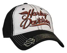 Free shipping - Harley-Davidson Women's Embroidered H-D Spirit Baseball Cap, Black/White BC17388 - Womens/Caps & Headwear/Baseball Caps - Essentials/Headwear/Womens Headwear/Baseball Caps