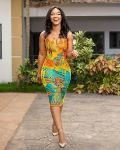 30 Best Kitenge Designs for Long Dresses 2019 Kitenge Styles African Print Dresses, African Fashion Dresses, African Dress, Ankara Fashion, Ghanaian Fashion, Nigerian Fashion, Ankara Dress, African Attire, African Wear
