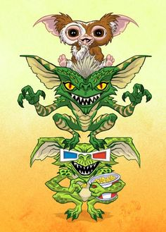 Gremlins - this film has stood the test of time Vintage Cartoon, Cartoon Art, Doodle Cartoon, Scary Movies, Horror Movies, Les Gremlins, Wallpaper Kawaii, Horror Artwork, Horror Icons