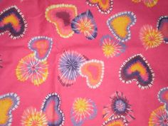 """#FABRIC Springs Industries Daisy Kingdom Snuggle Flannel """"Psychedelic Hearts"""""""
