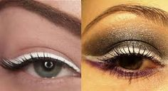 Image result for white eyeliner brown eyes