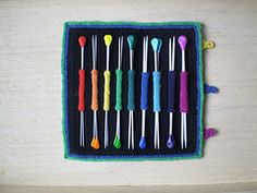 Ravelry: Rainbow Needle Roll pattern by Frankie Brown. Free