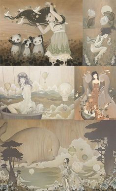 During my study years I already fell in love with Amy Sol 's illustration. Her work can transport you to another world and expend one's . Graphic Design Illustration, Illustration Art, Amy Sol, Blank Canvas, Psychedelic, Folk Art, Wednesday, Inspirational, Watercolor