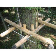 DIY Tree House Ideas & How To Build A Treehouse (For Your Inspiration) - Cambium Plattform Bausatz - Cozy Backyard, Backyard Playground, Backyard Landscaping, Beautiful Tree Houses, Cool Tree Houses, Backyard Projects, Outdoor Projects, Building A Treehouse, Treehouse Ideas