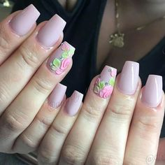 Amazing Nail Art Made Using Tones Products . OK so I'm in love with this polish and the flowers Cute Nail Art, Cute Nails, Pretty Nails, Foil Nail Art, Acrylic Nail Art, Modern Nails, Short Nails Art, Rhinestone Nails, Nail Decorations