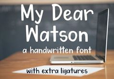 My Dear Watson Font Fonts Inspired by my passion for hand-lettering, My Dear Watson is a bold, clean, and fun font that looks by Groovy Journal Business Brochure, Business Card Logo, Improve Your Handwriting, Handwriting Practice, Bulletins, Script Type, Handwritten Fonts, Pencil Illustration, Premium Fonts