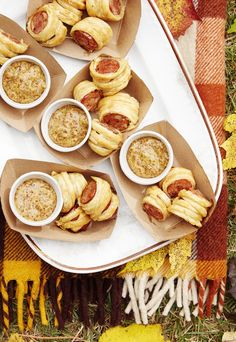 Cajun Sausage Puffs With Bourbon Mustardcountryliving