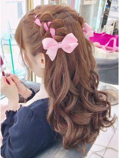 Cute Curly Hairstyles, Kawaii Hairstyles, Creative Hairstyles, Shot Hair Styles, Curly Hair Styles, Quick Braids, Lolita Hair, Chibi Hair, Cartoon Hair