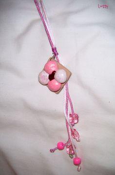 Collar de galleta arcoiris hecha con arcilla polimérica   /  Marshmallow cookie necklace made with polymer clay #sculpey