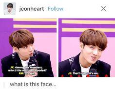 Jungkook's face ffs. No wonder he's a walking meme.