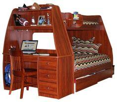 your best home design, bedroom design, garden design, living room design, etc Bunk Bed With Desk, Bunk Beds With Storage, Full Bunk Beds, Bunk Beds With Stairs, Kids Bunk Beds, Bed Storage, Storage Drawers, Loft Beds, Bed Stairs