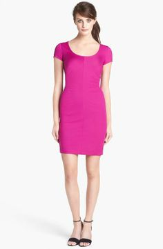 DVF ruched dress in orchid.