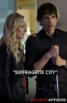 """The Operatives have voted, and they say that Auggie's best Covert Affairs save was in """"Suffragette City."""" Repin if you agree!"""