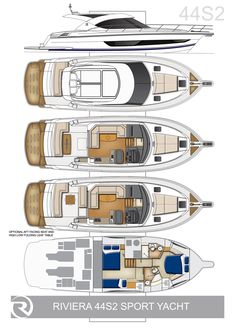 Riviera 4400 Sport Yacht Series II with IPS | Layouts