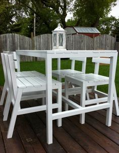 Harriet Outdoor Table & Chairs | Do It Yourself Home Projects from Ana White