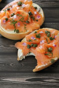 Bagel and Lox - Hall Nesting Salmon Breakfast, Breakfast Bagel, Best Breakfast, Salmon Lox, Smoked Salmon Bagel, Traditional American Food, Brunch Recipes, Breakfast Recipes, Lox Recipe